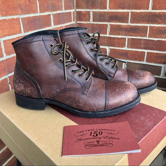 05dfa8d47f8 NWB Men's Frye Logan Cap Toe Leather Boot NWT